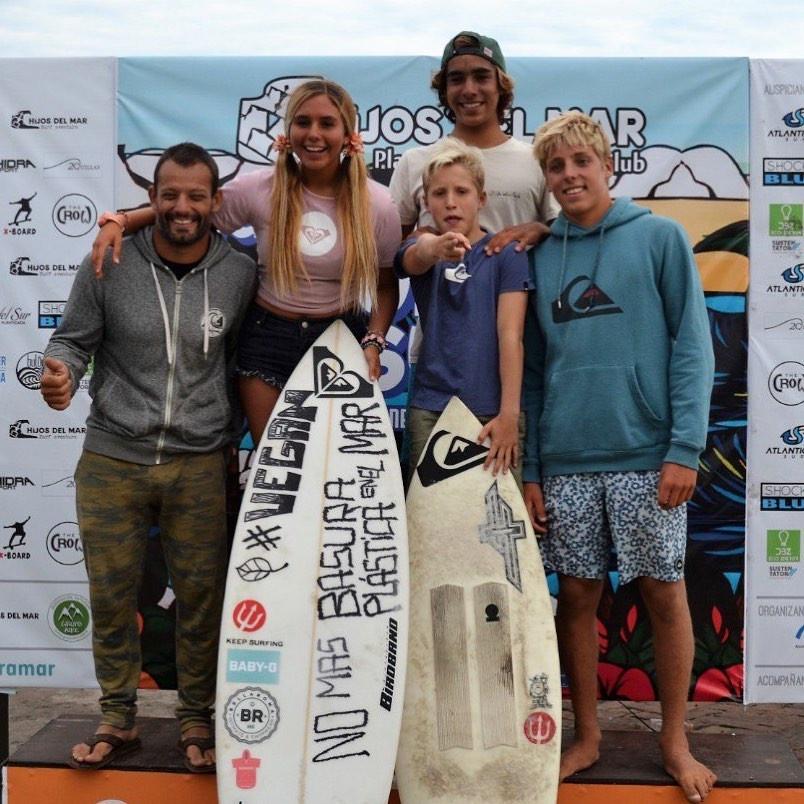 El team de Surf en Miramar